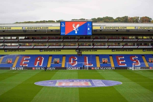 LONDON, ENGLAND - Saturday, October 29, 2016: A general view of Crystal Palace's Selhurst Park ground before the FA Premier League match against Liverpool. (Pic by David Rawcliffe/Propaganda)