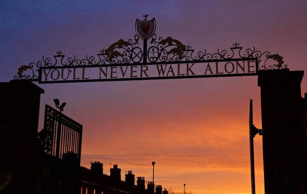 LIVERPOOL, ENGLAND - Sunday, December 11, 2016: The Shankly Gates outside Liverpool's Anfield Stadium. General Image (Pic by David Rawcliffe/Propaganda)