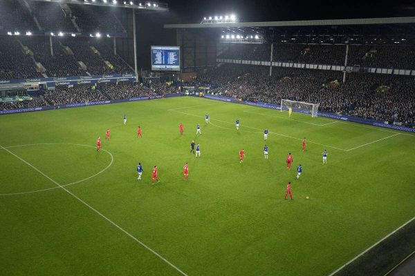 LIVERPOOL, ENGLAND - Monday, December 19, 2016: A Liverpool in action against Everton during the FA Premier League match against Liverpool, the 227th Merseyside Derby, at Goodison Park. (Pic by Gavin Trafford/Propaganda)