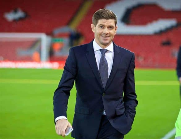 LIVERPOOL, ENGLAND - Saturday, December 31, 2016: Former Liverpool player Steven Gerrard before the FA Premier League match against Manchester City at Anfield. (Pic by David Rawcliffe/Propaganda)