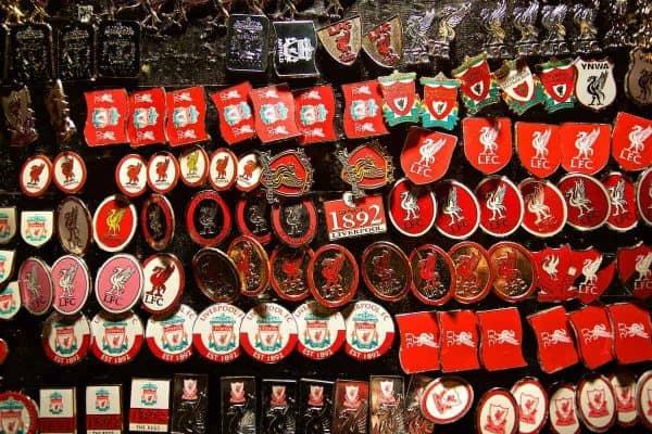 Pin badges at Anfield. General (Pic by David Rawcliffe/Propaganda)