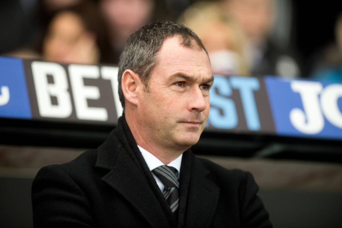 SWANSEA, WALES - Saturday, January 14, 2017: Swansea City's manager Paul Clement (Pic by Gwenno Davies/Propaganda)