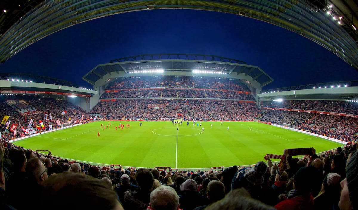 LIVERPOOL, ENGLAND - Saturday, February 11, 2017: Liverpool's Anfield Stadium General Panoramic View Generic Image (Pic by David Rawcliffe/Propaganda)