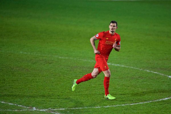 BIRKENHEAD, ENGLAND - Monday, March 13, 2017: Liverpool's Dejan Lovren in action against Chelsea during the Under-23 FA Premier League 2 Division 1 match at Prenton Park. (Pic by David Rawcliffe/Propaganda)