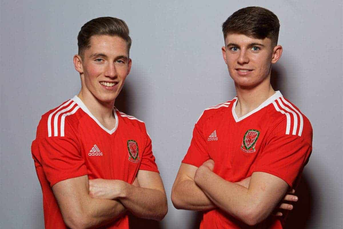 CARDIFF, WALES - Monday, March 20, 2017: Liverpool's Under-23 duo Harry Wilson and Ben Woodburn join up with the Wales senior squad for the forthcoming 2018 FIFA World Cup Qualifying Group D match against Republic of Ireland. (Pic by David Rawcliffe/Propaganda)