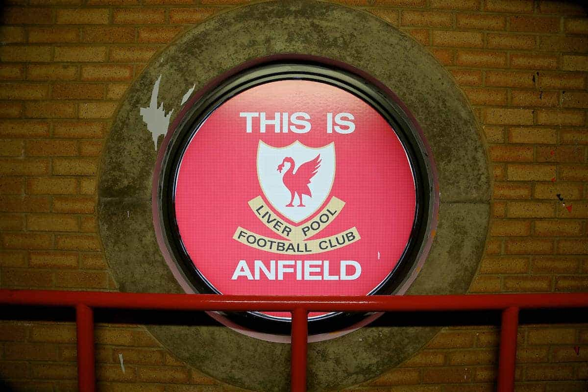 LIVERPOOL, ENGLAND - Saturday, April 1, 2017: This is Anfield window during the FA Premier League match, the 228th Merseyside Derby, against Everton at Anfield. (Pic by David Rawcliffe/Propaganda)