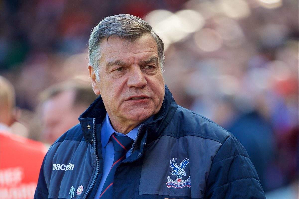 LIVERPOOL, ENGLAND - Sunday, April 23, 2017: Crystal Palace's manager Sam Allardyce before the FA Premier League match against Liverpool at Anfield. (Pic by David Rawcliffe/Propaganda)