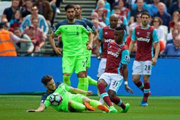 West Ham vs. Liverpool 2017