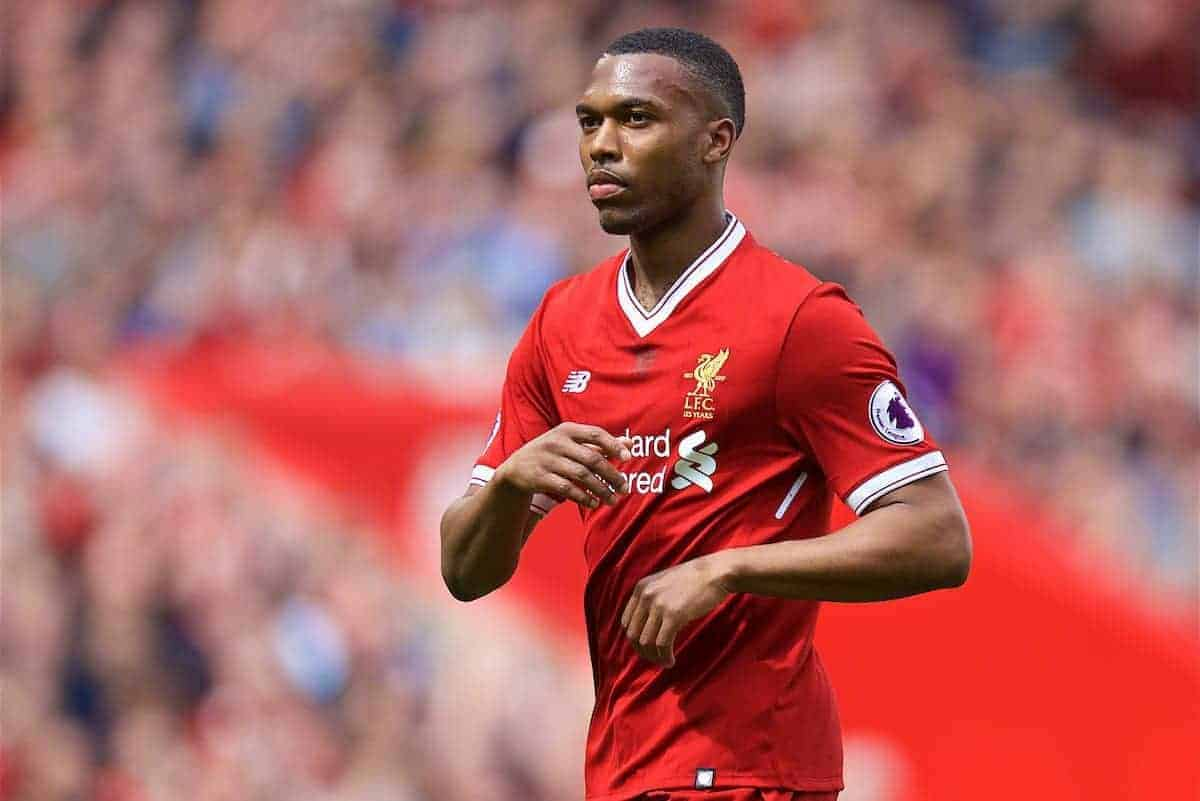 LIVERPOOL, ENGLAND - Sunday, May 21, 2017: Liverpool's Daniel Sturridge in action against Middlesbrough during the FA Premier League match at Anfield. (Pic by David Rawcliffe/Propaganda)