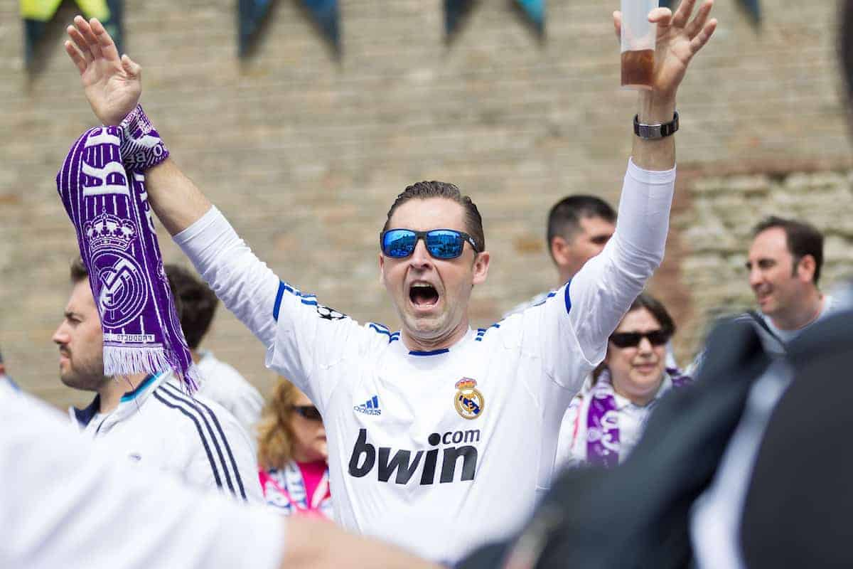 CARDIFF, WALES - Saturday, June 3, 2017: Real Madrid supporters before the UEFA Champions League Final between Juventus FC and Real Madrid CF at the Stadium of Wales. (Pic by Don Jackson-Wyatt/Propaganda)