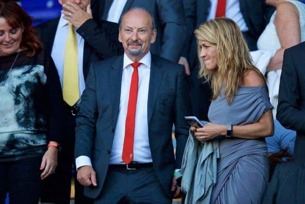 BIRKENHEAD, ENGLAND - Wednesday, July 12, 2017: Liverpool's new CEO Peter Moore before a preseason friendly match against Tranmere Rovers at Prenton Park. (Pic by David Rawcliffe/Propaganda)