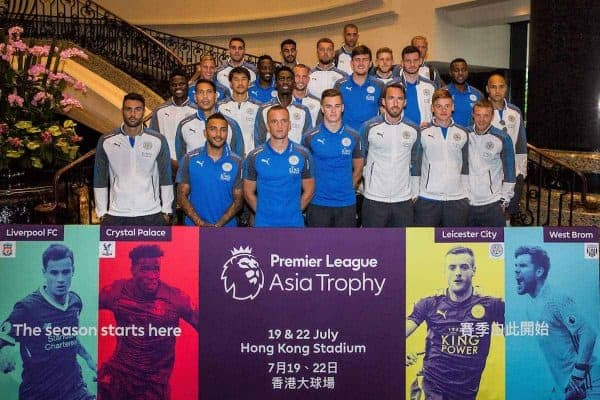 HONG KONG, CHINA - Monday, July 17, 2017: The Leicester City team arrive at the Grand Hyatt Hong Kong, ahead of the Premier League Asia Trophy 2017. (Pic by FA Premier League/Pool/Propaganda)