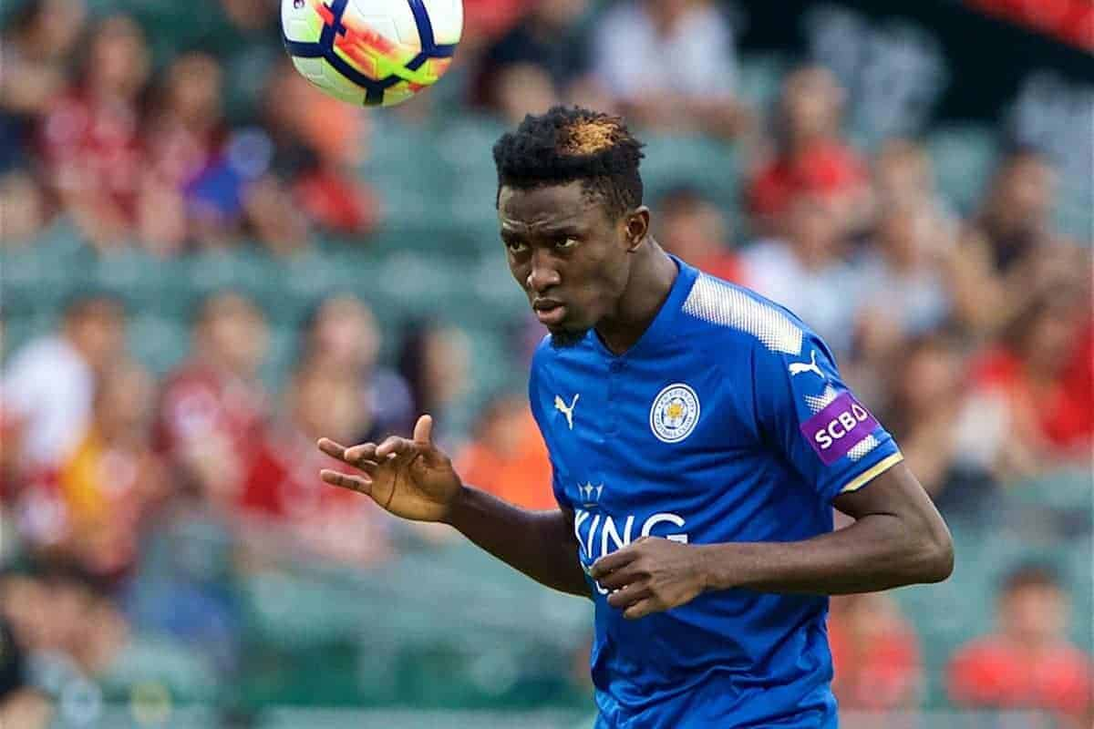 HONG KONG, CHINA - Wednesday, July 19, 2017: Leicester City's Wilfred Ndidi during the Premier League Asia Trophy match between Leicester City and West Bromwich Albion at the Hong Kong International Stadium. (Pic by David Rawcliffe/Propaganda)