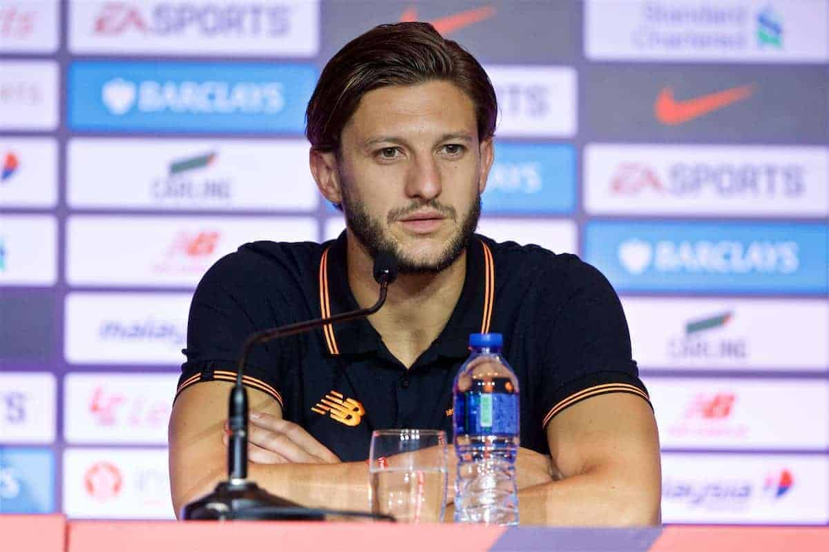 HONG KONG, CHINA - Friday, July 21, 2017: Liverpool's Adam Lallana during a press conference at the Grand Hyatt Hotel Hong Kong ahead of the Premier League Asia Trophy 2017. (Pic by David Rawcliffe/Propaganda)