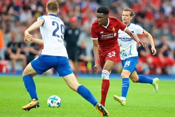 BERLIN, GERMANY - Saturday, July 29, 2017: Liverpool's Oviemuno Ovie Ejaria during a preseason friendly match celebrating 125 years of football for Liverpool and Hertha BSC Berlin at the Olympic Stadium. (Pic by David Rawcliffe/Propaganda)