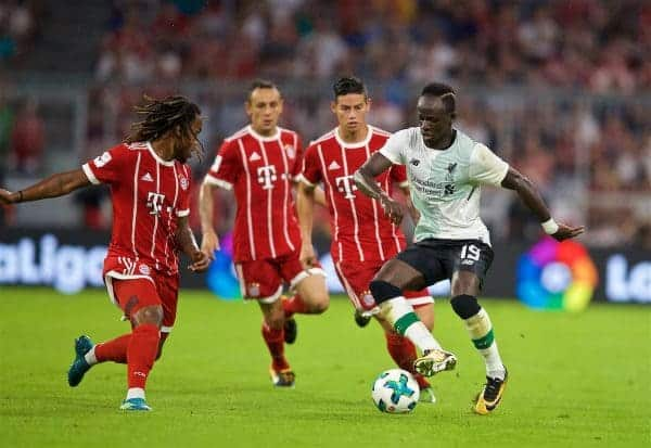 MUNICH, GERMANY - Tuesday, August 1, 2017: Liverpool's Sadio Mane during the Audi Cup 2017 match between FC Bayern Munich and Liverpool FC at the Allianz Arena. (Pic by David Rawcliffe/Propaganda)
