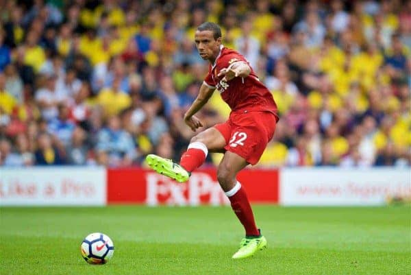 WATFORD, ENGLAND - Saturday, August 12, 2017: Liverpool's Joel Matip during the FA Premier League match between Watford and Liverpool at Vicarage Road. (Pic by David Rawcliffe/Propaganda)