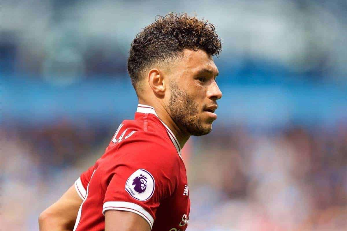 MANCHESTER, ENGLAND - Saturday, September 9, 2017: Liverpool's Alex Oxlade-Chamberlain during the FA Premier League match between Manchester City and Liverpool at the City of Manchester Stadium. (Pic by David Rawcliffe/Propaganda)