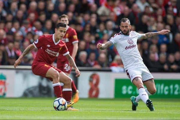 Coutinho, Liverpool vs Burnley