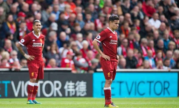 Firmino, Coutinho, Liverpool vs Burnley