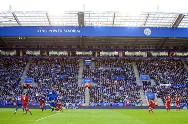 LEICESTER, ENGLAND - Saturday, September 23, 2017: Liverpool's Philippe Coutinho Correia scores the second goal from a free-kick during the FA Premier League match between Leicester City and Liverpool at the King Power Stadium. (Pic by David Rawcliffe/Propaganda)