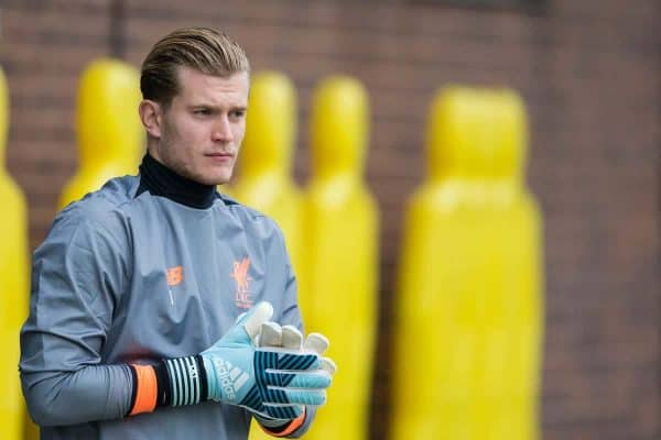 LIVERPOOL, ENGLAND - Monday, September 25, 2017: Liverpool's goalkeeper Loris Karius during a training session at Melwood Training Ground ahead of the UEFA Champions League Group E match against FC Spartak Moscow. (Pic by Paul Greenwood/Propaganda)