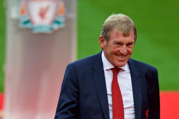 LIVERPOOL, ENGLAND - Friday, October 13, 2017: Kenny Dalglish after giving a speech at a ceremony to rename Liverpool FC's Centenary Stand the Kenny Dalglish Stand. (Pic by David Rawcliffe/Propaganda)