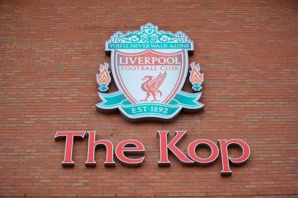 The Kop sign Anfield, General, Matchday (Pic by David Rawcliffe/Propaganda)