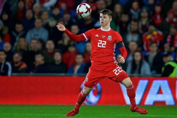 CARDIFF, WALES - Tuesday, November 14, 2017: Wales' Ben Woodburn during the international friendly match between Wales and Panama at the Cardiff City Stadium. (Pic by David Rawcliffe/Propaganda)