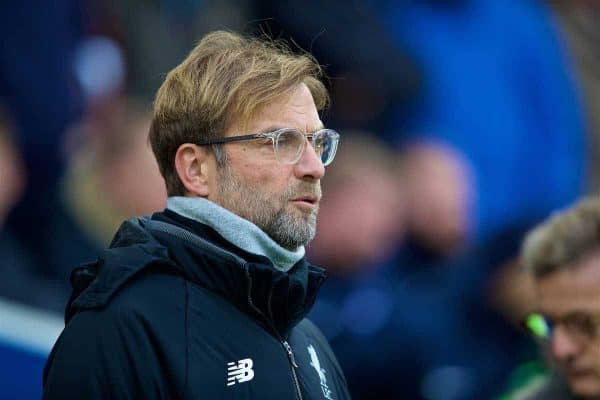 BRIGHTON AND HOVE, ENGLAND - Saturday, December 2, 2017: Liverpool's manager Jürgen Klopp before the FA Premier League match between Brighton & Hove Albion FC and Liverpool FC at the American Express Community Stadium. (Pic by David Rawcliffe/Propaganda)