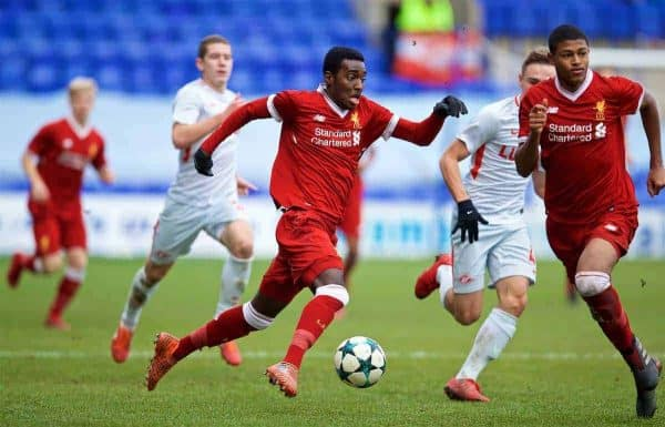 BIRKENHEAD, ENGLAND - Wednesday, December 6, 2017: Liverpool's Rafael Camacho during the UEFA Youth League Group E match between Liverpool FC and FC Spartak Moscow at Prenton Park. (Pic by David Rawcliffe/Propaganda)