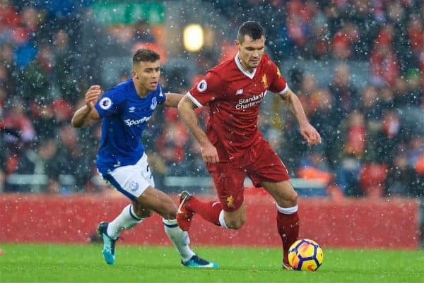LIVERPOOL, ENGLAND - Sunday, December 10, 2017: Liverpool's Dejan Lovren during the FA Premier League match between Liverpool and Everton, the 229th Merseyside Derby, at Anfield. (Pic by David Rawcliffe/Propaganda)