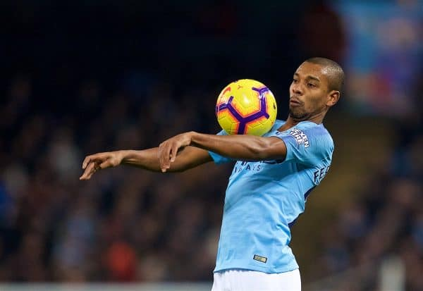 MANCHESTER, ENGLAND - Thursday, January 3, 2019: Manchester City's Fernando Luiz Roza 'Fernandinho' during the FA Premier League match between Manchester City FC and Liverpool FC at the Etihad Stadium. (Pic by David Rawcliffe/Propaganda)
