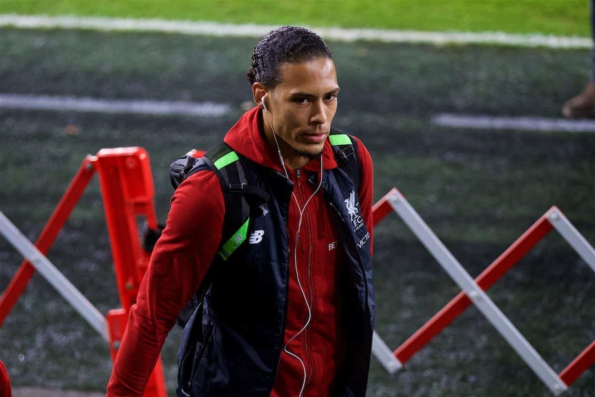 SWANSEA, WALES - Monday, January 22, 2018: Liverpool's Virgil van Dijk before the FA Premier League match between Swansea City FC and Liverpool FC at the Liberty Stadium. (Pic by David Rawcliffe/Propaganda)