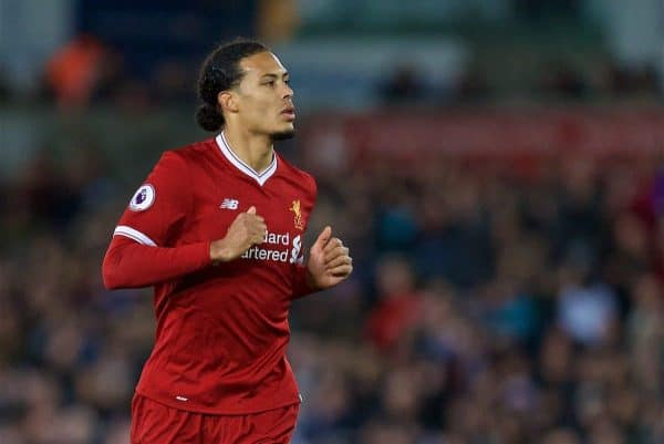 Liverpool's Virgil van Dijk during the FA Premier League match between Swansea City FC and Liverpool FC at the Liberty Stadium. (Pic by David Rawcliffe/Propaganda)