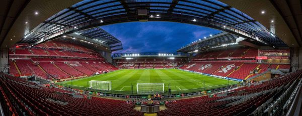 LIVERPOOL, ENGLAND - Sunday, January 14, 2018: A general view of Anfield from the Spion Kop stand before the FA Premier League match between Liverpool and Manchester City at Anfield. (Pic by David Rawcliffe/Propaganda)