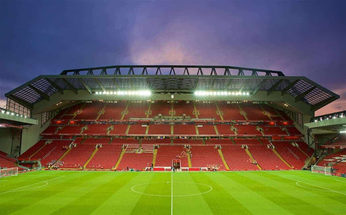 LIVERPOOL, ENGLAND - Sunday, January 14, 2018: A general view of the new Main Stand before the FA Premier League match between Liverpool and Manchester City at Anfield. (Pic by David Rawcliffe/Propaganda)