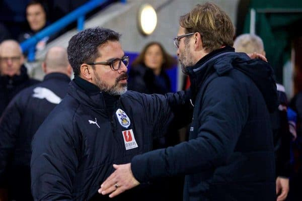 Liverpool's manager Jürgen Klopp and Huddersfield Town's manager David Wagner before the FA Premier League match between Huddersfield Town FC and Liverpool FC at the John Smith's Stadium. (Pic by David Rawcliffe/Propaganda)