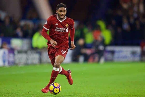 HUDDERSFIELD, ENGLAND - Tuesday, January 30, 2018: Liverpool's Joe Gomez during the FA Premier League match between Huddersfield Town FC and Liverpool FC at the John Smith's Stadium. (Pic by David Rawcliffe/Propaganda)