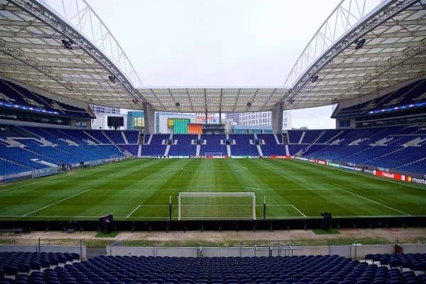 A general view of the Estádio do Dragão before a training session ahead of the UEFA Champions League Round of 16 1st leg match between FC Porto and Liverpool FC. (Pic by David Rawcliffe/Propaganda)