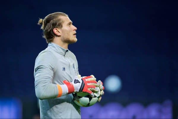 Liverpool's goalkeeper Loris Karius during a training session at the Estádio do Dragão ahead of the UEFA Champions League Round of 16 1st leg match between FC Porto and Liverpool FC. (Pic by David Rawcliffe/Propaganda)