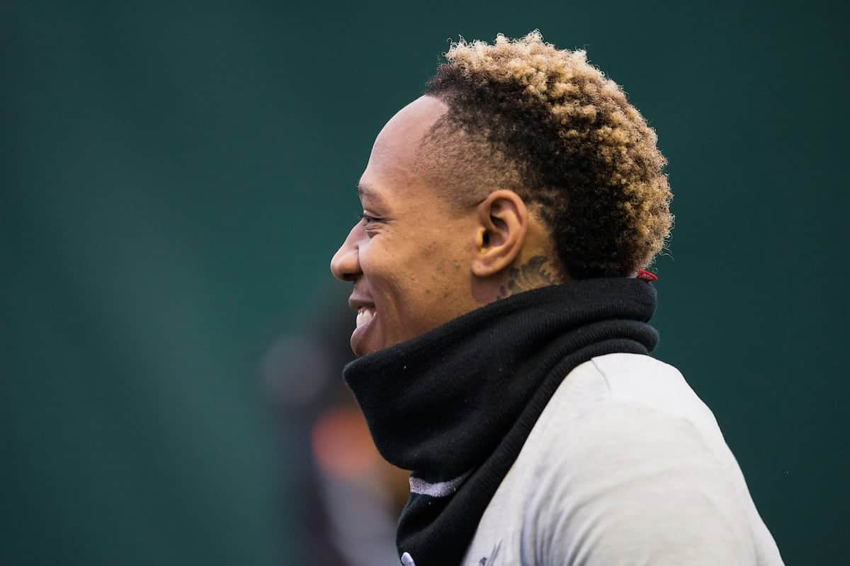 LIVERPOOL, ENGLAND - Monday, March 5, 2018: Liverpool's Nathaniel Clyne during a training session at Melwoood ahead of the UEFA Champions League Round of 16 2nd leg match between Liverpool FC and FC Porto. (Pic by Paul Greenwood/Propaganda)