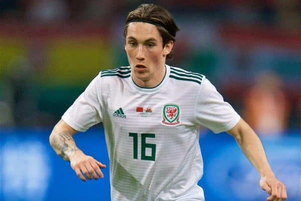 NANNING, CHINA - Thursday, March 22, 2018: Wales' Harry Wilson during the opening match of the 2018 Gree China Cup International Football Championship between China and Wales at the Guangxi Sports Centre. (Pic by David Rawcliffe/Propaganda)