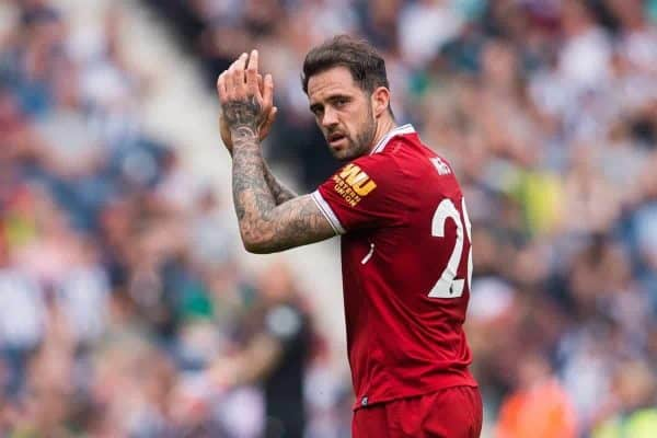WEST BROMWICH, ENGLAND - Saturday, April 21, 2018: Liverpoolís Danny Ings reacts during the FA Premier League match between West Bromwich Albion FC and Liverpool FC at the Hawthorns. (Pic by Peter Powell/Propaganda)
