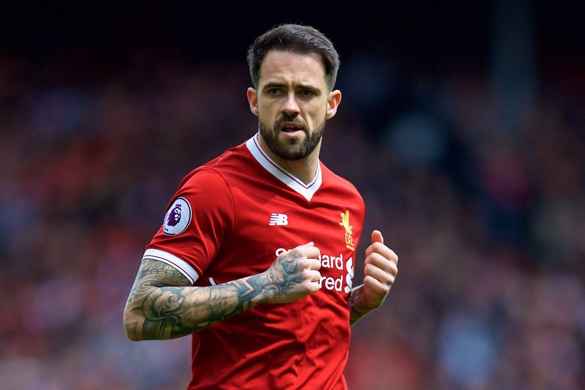 LIVERPOOL, ENGLAND - Saturday, April 28, 2018: Liverpool's Danny Ings during the FA Premier League match between Liverpool FC and Stoke City FC at Anfield. (Pic by David Rawcliffe/Propaganda)
