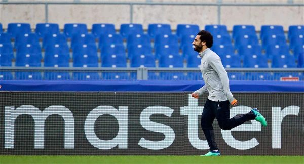 ROME, ITALY - Tuesday, May 1, 2018: Master... Liverpool's Mohamed Salah during a training session at the Stadio Olimpico ahead of the UEFA Champions League Semi-Final 2nd Leg match between AS Roma and Liverpool FC. Liverpool lead 5-2 from the 1st Leg. (Pic by David Rawcliffe/Propaganda)