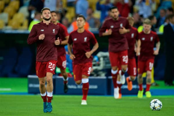 KIEV, UKRAINE - Saturday, May 26, 2018: Liverpool's Adam Lallana during the pre-match warm-up before the UEFA Champions League Final match between Real Madrid CF and Liverpool FC at the NSC Olimpiyskiy. (Pic by Peter Powell/Propaganda)