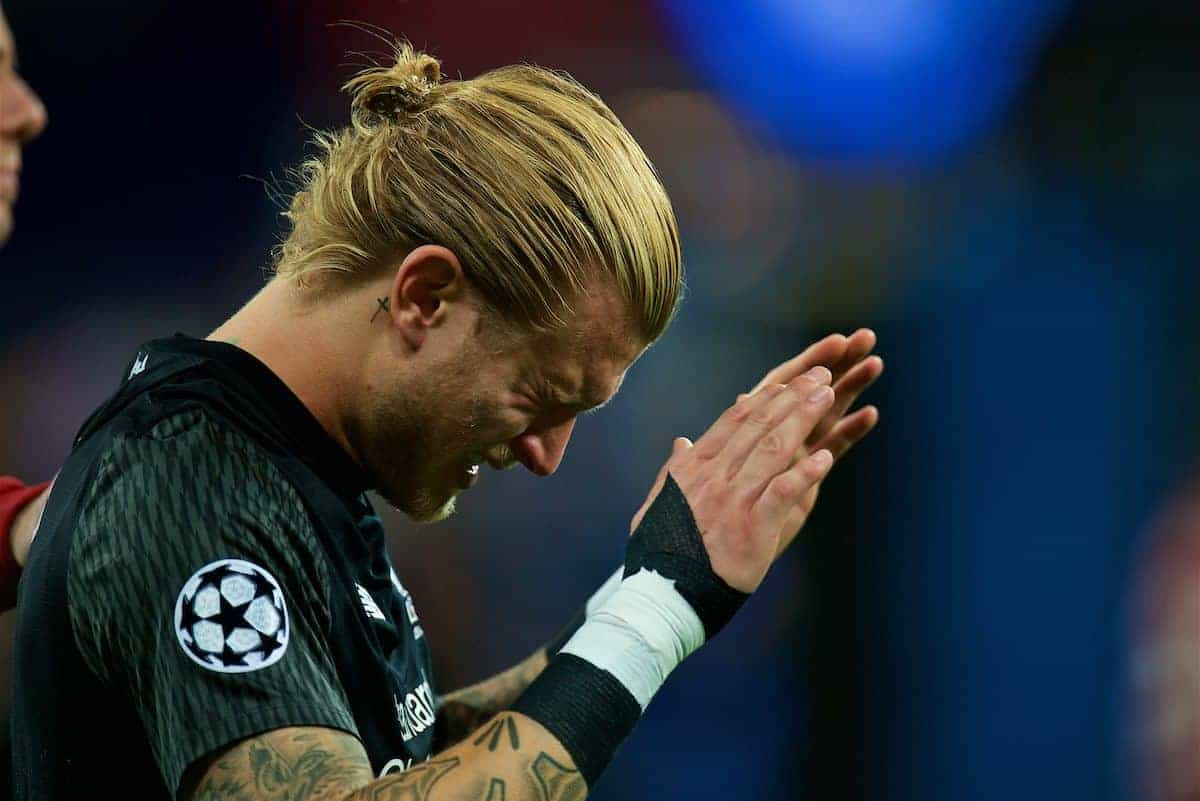 KIEV, UKRAINE - Saturday, May 26, 2018: Liverpool's goalkeeper Loris Karius looks dejected as his side lose during the UEFA Champions League Final match between Real Madrid CF and Liverpool FC at the NSC Olimpiyskiy. Real Madrid won 3-1. (Pic by Peter Powell/Propaganda)
