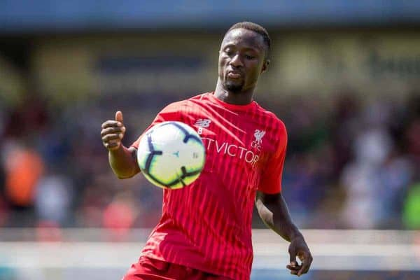 CHESTER, ENGLAND - Saturday, July 7, 2018: Liverpool's Naby Keita during the pre-match warm-up ahead of a preseason friendly match between Chester FC and Liverpool FC at the Deva Stadium. (Pic by Paul Greenwood/Propaganda)