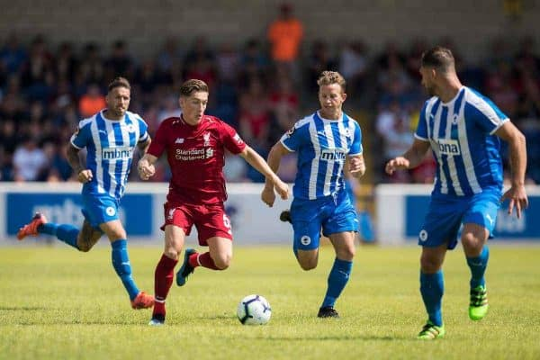CHESTER, ENGLAND - Saturday, July 7, 2018: Liverpool's Harry Wilson during a preseason friendly match between Chester FC and Liverpool FC at the Deva Stadium. (Pic by Paul Greenwood/Propaganda)